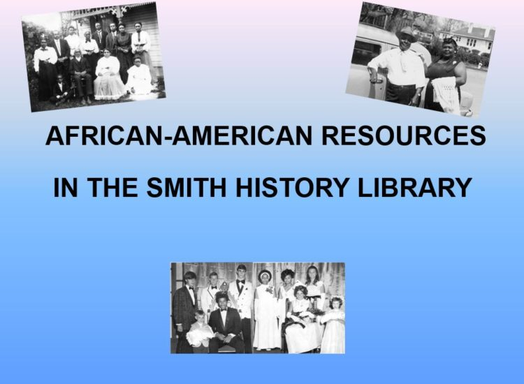 African American Resources in the Smith History Library
